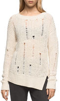 Calvin Klein Jeans Rib-Knit Long-Sleeve Pullover
