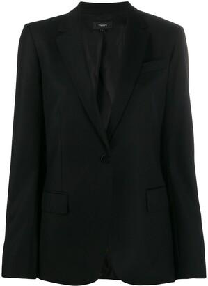 Theory one-button blazer