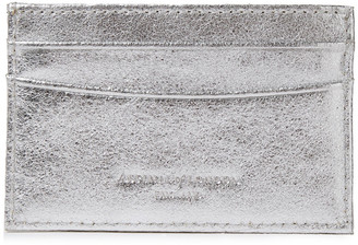 Aspinal of London Metallic Textured-leather Cardholder