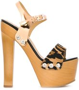 Giuseppe Zanotti Design 'Fanny' leopard print platform sandals
