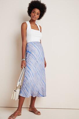 Maeve Sandrah Tie-Dye Midi Skirt By in Blue Size S