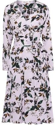 Diane von Furstenberg Elle Floral-print Silk Crepe De Chine Wrap Dress