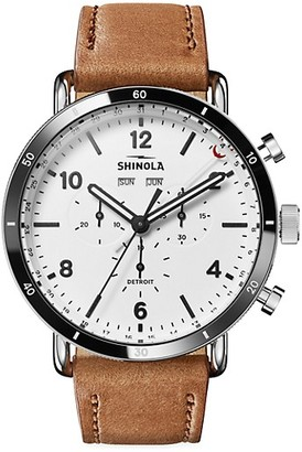 Shinola Canfield Sport Stainless Steel & Leather Watch