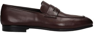 Ermenegildo Zegna Loafers In Brown Leather