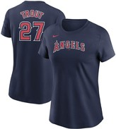 Nike Women's Mike Trout Navy Los Angeles Angels Name & Number T-Shirt