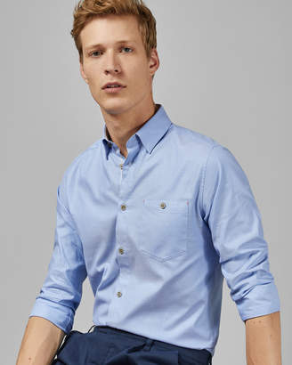 Ted Baker ZACHARI Long sleeved cotton shirt