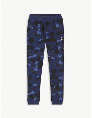 A Bathing Ape Camouflage-print cotton jogging bottoms 4-8 years