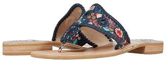 Jack Rogers Jacks Flat Sandal Icon Floral (Midnight) Women's Shoes