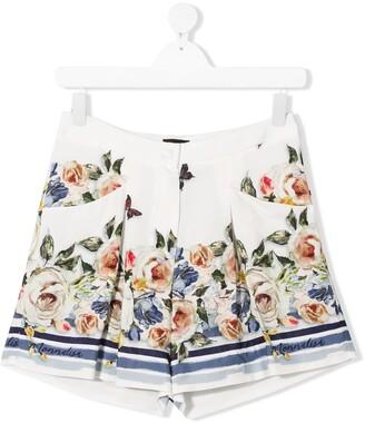 MonnaLisa TEEN floral print shorts