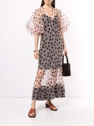 Lee Mathews Rayne organza puff sleeve dress
