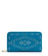 Henri Bendel West 57th Stitch Lace Zip Around Continental Wallet