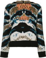 Baja East printed hooded top - women - Cashmere - 3