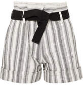 Vanessa Bruno Ezed Belted Striped Cotton-canvas Shorts - White
