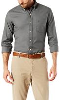 Dockers Textured Long Sleeved Dobby Shirt, Burma Grey