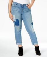 Style&Co. Style & Co Plus Size Curvy Patchwork Boyfriend Jeans, Only at Macy's