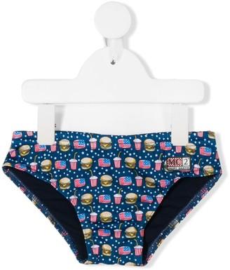 Mc2 Saint Barth Kids Micro Hamburger swim briefs