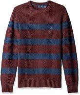 Nautica Men's Breton Long Sleeve Stripe Sweater
