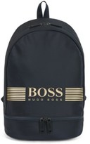 HUGO BOSS - Backpack In Structured Nylon With Logo Artwork - Dark Blue