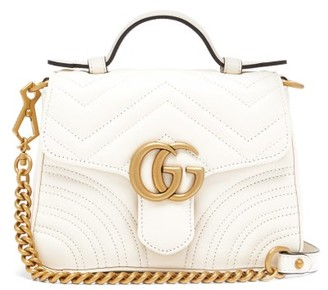 Gucci GG Marmont Small Quilted-leather Cross-body Bag - White