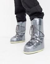 Moon Boot Vinil Met snow boots in silver