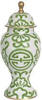 """Dana Gibson 16"""" Sultan Ginger Jar - Green/White"""