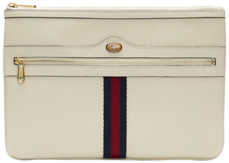 Gucci White Ophidia Pouch