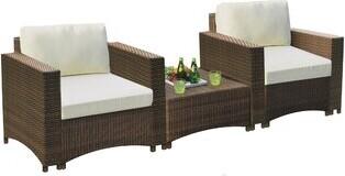 Cassandra Bayou Breeze 3 Piece Rattan Seating Group with Cushions Bayou Breeze