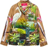 F.R.S For Restless Sleepers Persefone Printed Silk-twill Shirt