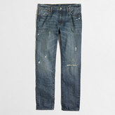J.Crew Factory Driggs rip & repair jean in hanover wash