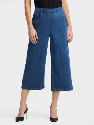 DKNY Pull On Wide Leg Crop Pant