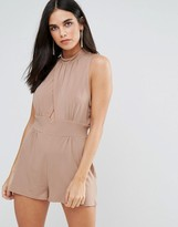 Love High Neck Cross Over Playsuit