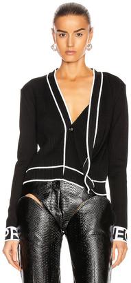 Y/Project Knit Cardigan in Black | FWRD
