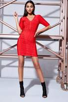 boohoo Premium Orla Bandage Lattice Bodycon Dress