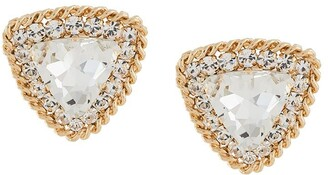 Alessandra Rich Large Crystal Clip-On Earrings