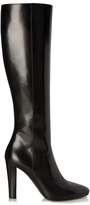 Saint Laurent Lily cone-heeled leather knee-high boots