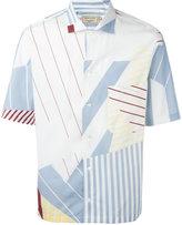 MAISON KITSUNÉ multiple stripes shortsleeved shirt - men - Cotton - 43