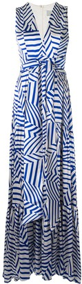 Silvia Tcherassi Polly striped floor-length dress