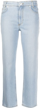 Sandro Mid-Rise Cropped Jeans