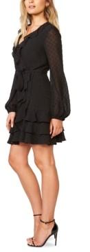 Bardot Triple-Frill Fit & Flare Dress