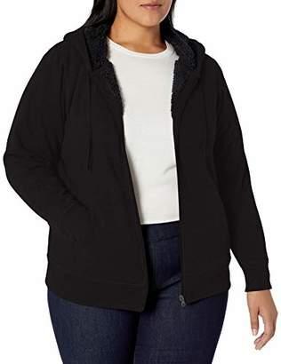 Amazon Essentials Women's Plus Size Sherpa-Lined Full-Zip Hoodie
