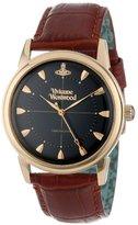 Vivienne Westwood Men's VV064BKBR Grosvenor Brown Strap Watch