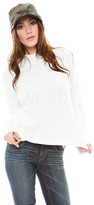 LnA Braided Turtleneck Sweater in Ivory