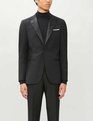 Reiss Poker satin-trimmed slim-fit wool-blend tuxedo jacket