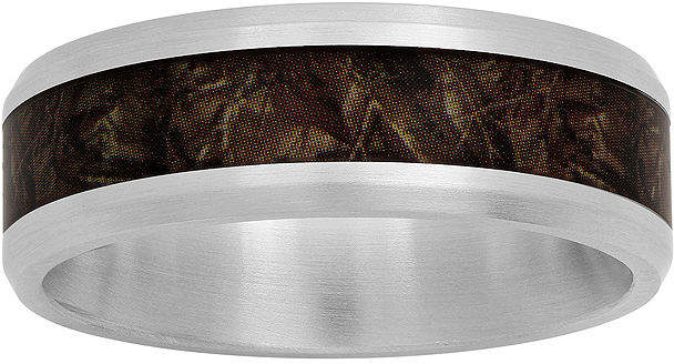 JCPenney MODERN BRIDE Mens Stainless Steel 8mm Wedding Band