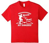 Funny Never Bunt Hit Dingers Baseball Hitter T-shirt