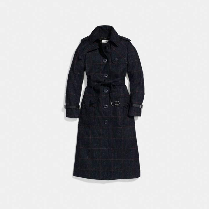 Coach Wool Trench Coat