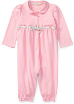 Ralph Lauren Ruffled Cotton Polo Coverall