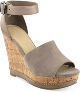 Marc Fisher Hillory Two-Piece Platform Wedge Sandals Women's Shoes