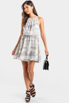 francesca's Jan Mix Floral Flawless Dress - Black/White