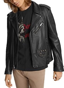 John Varvatos Misfits Studded Slim Fit Biker Jacket